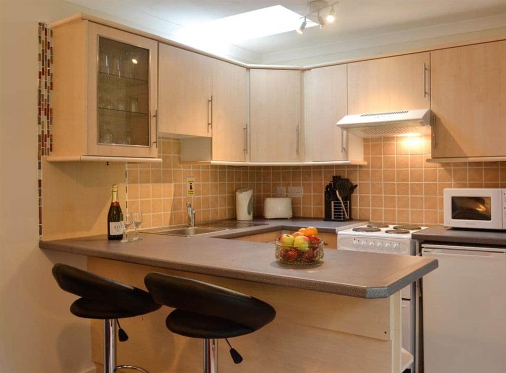 Kitchen & breakfast bar at Cameron Lodge Cottage in Innellan, near Dunoon, Argyll