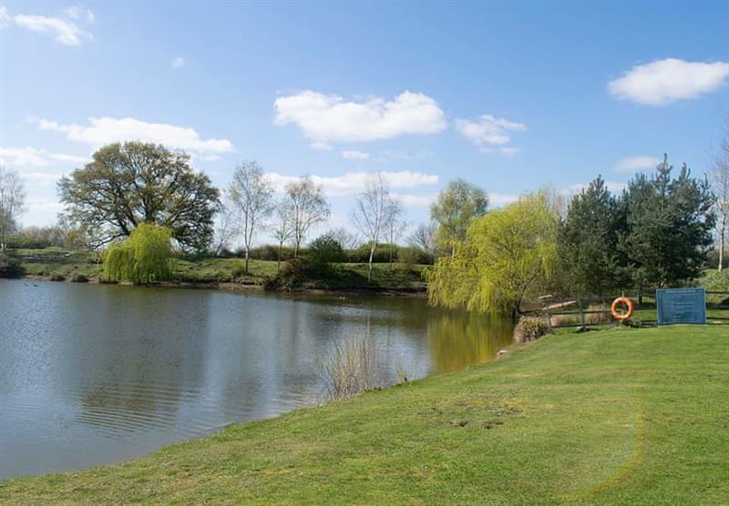 Lake at Camper UK Leisure Park in Swinethorpe, Nr Lincoln