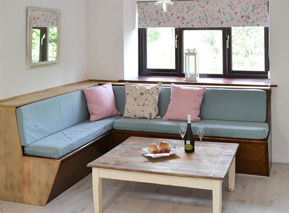 Seating area at Canal View House in Swafield, near North Walsham, Norfolk