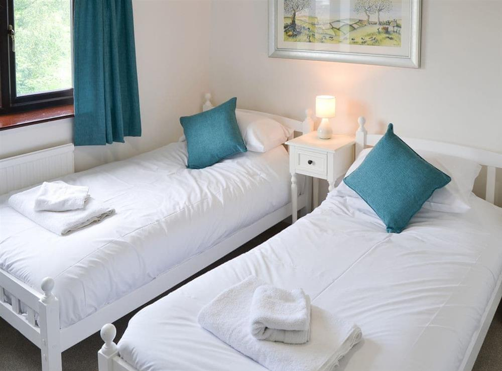Twin bedroom at Canal View House in Swafield, near North Walsham, Norfolk