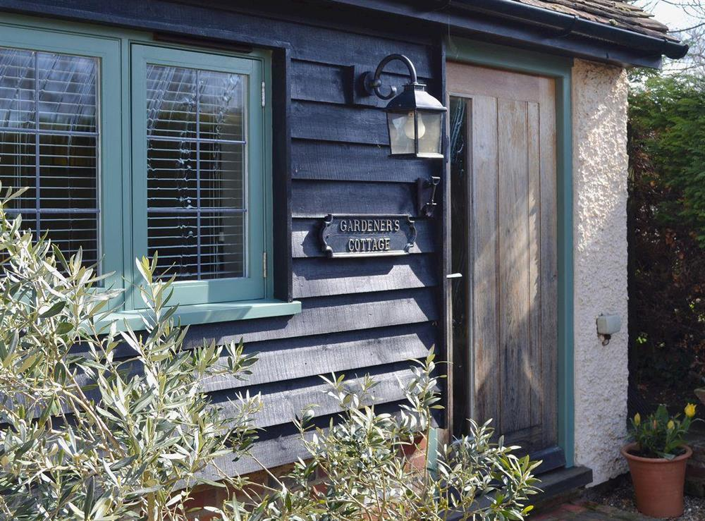 Traditional black clad Kentish building at The Gardeners Cottage,