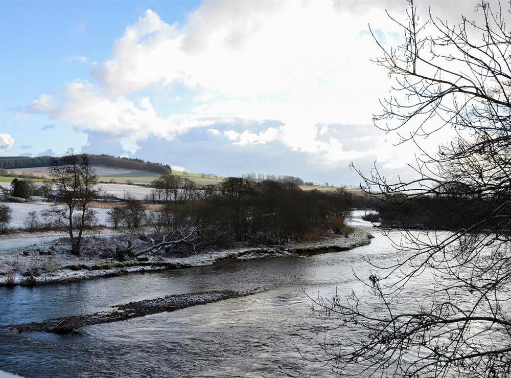 Close to the River Esk where seasonal fishing is available at Canterland Lodge in Marykirk, near Montrose, Aberdeenshire, Scotland