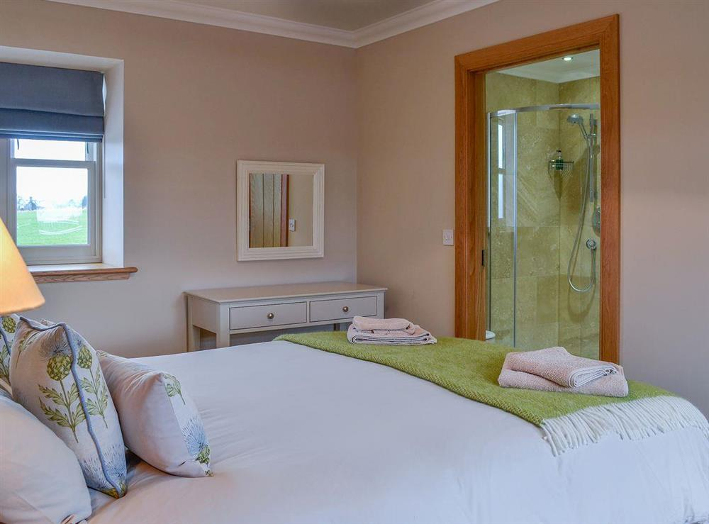 Cosy and romantic double bedroom at Canterland Lodge in Marykirk, near Montrose, Aberdeenshire, Scotland