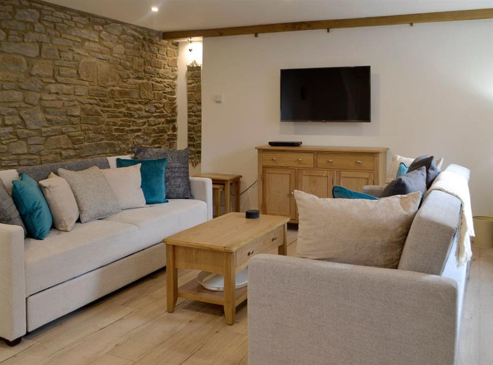 Welcoming living area at Cariad Cottage in Treorchy, near Aberdare, Mid Glamorgan