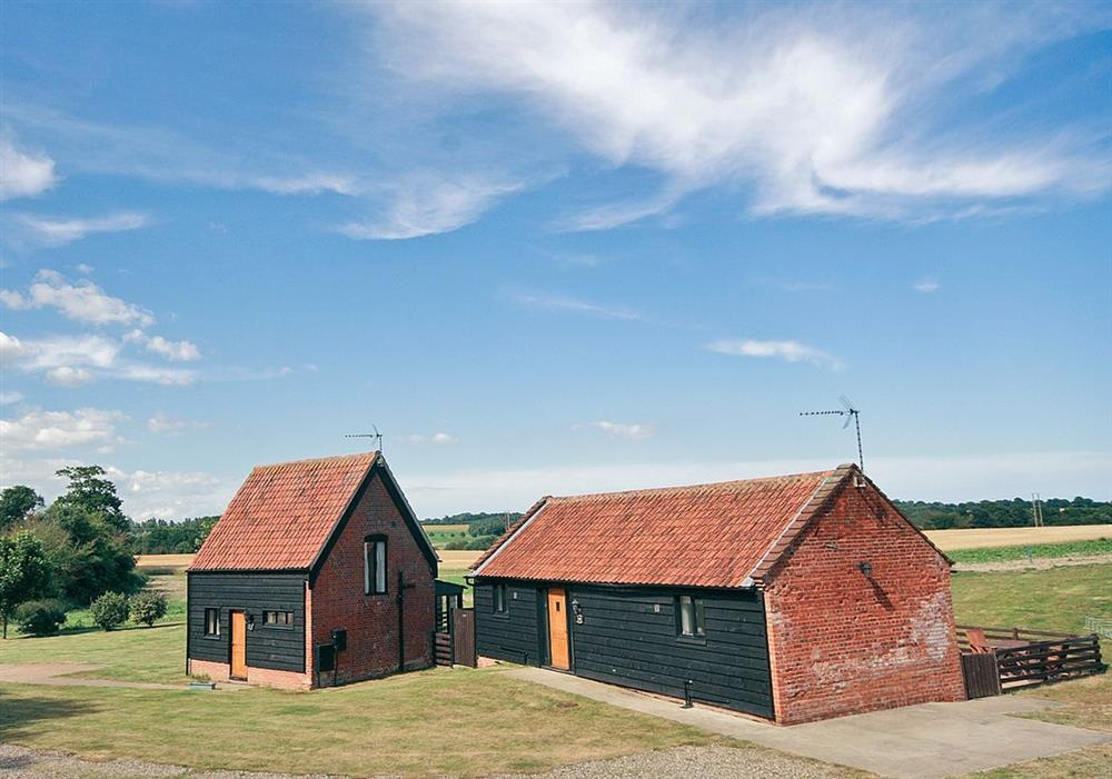 Sally's Nest (left) Carol's Cottage (right) at Carols Cottage in Halesworth, Suffolk