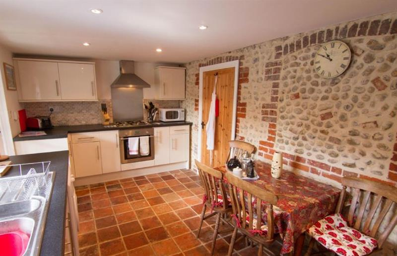 The kitchen at Carpenters Cottage, Holt, Norfolk