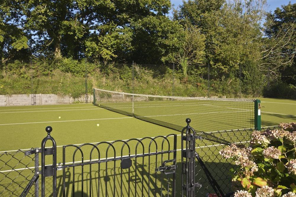 Tennis court at Carriage Loft Cottage in Hillfield, Dartmouth