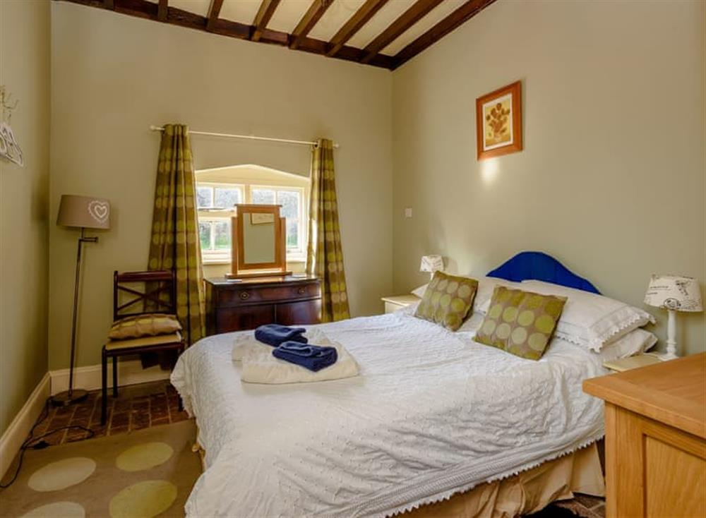 Double bedroom at Castle Lodge in Mettingham, England
