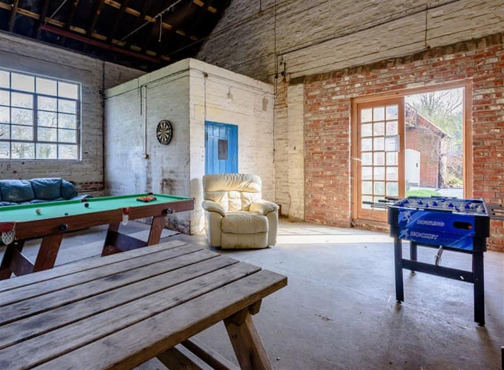 Games room at Castle Lodge in Mettingham, England