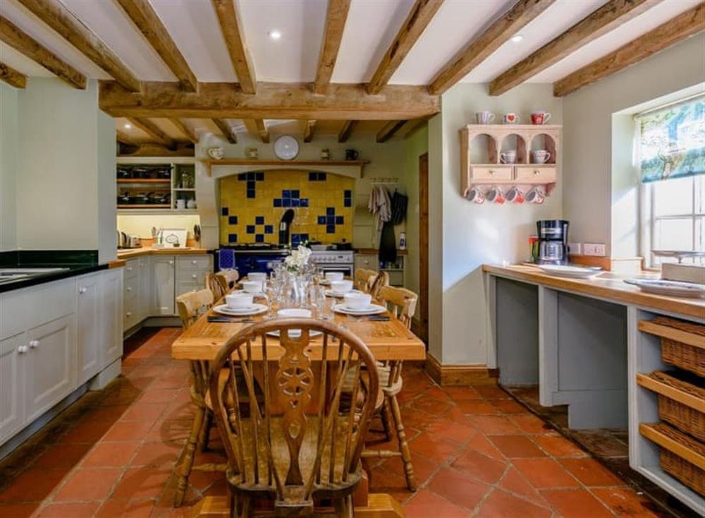 Kitchen diner at Castle Lodge in Mettingham, England