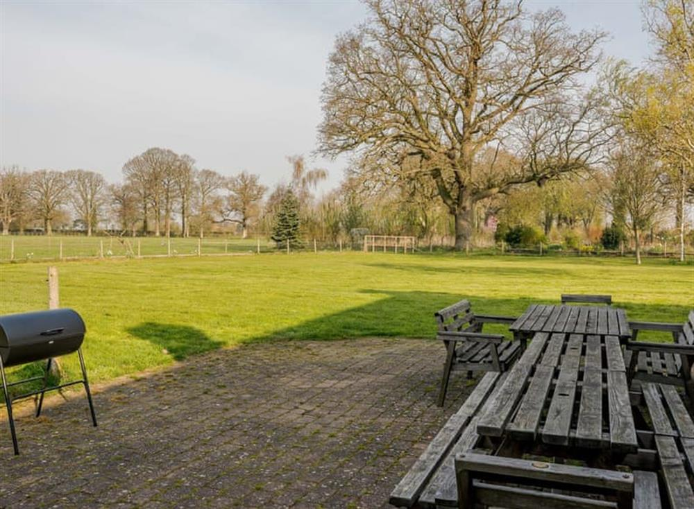 Outdoor area at Castle Lodge in Mettingham, England