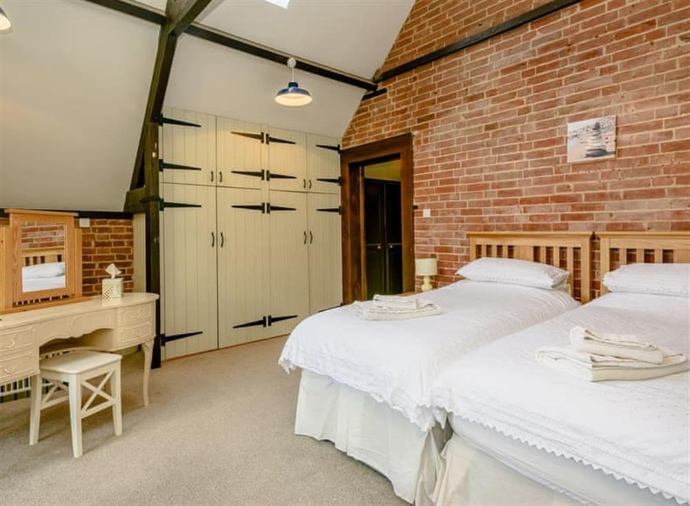 Twin bedroom at Castle Lodge in Mettingham, England