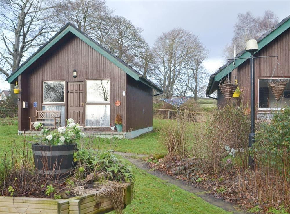Typical exterior at Chalet 2 in Muir of Ord, Ross-Shire
