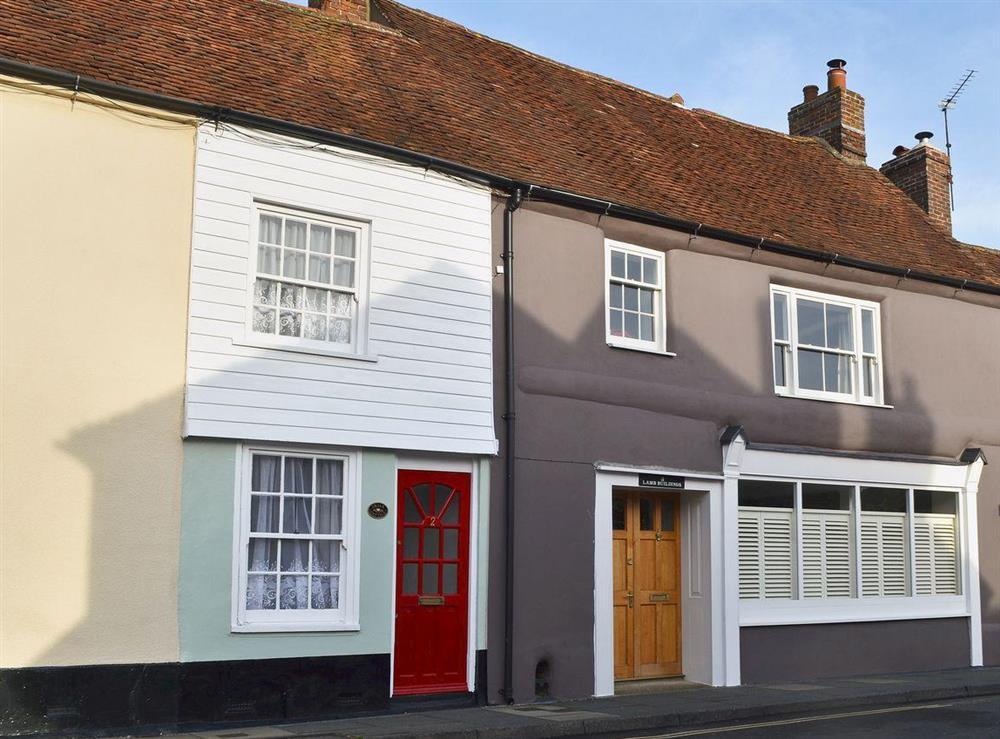 Chalk cottage is the one with the red door at Chalk Cottage in Westbourne, near Chichester, West Sussex