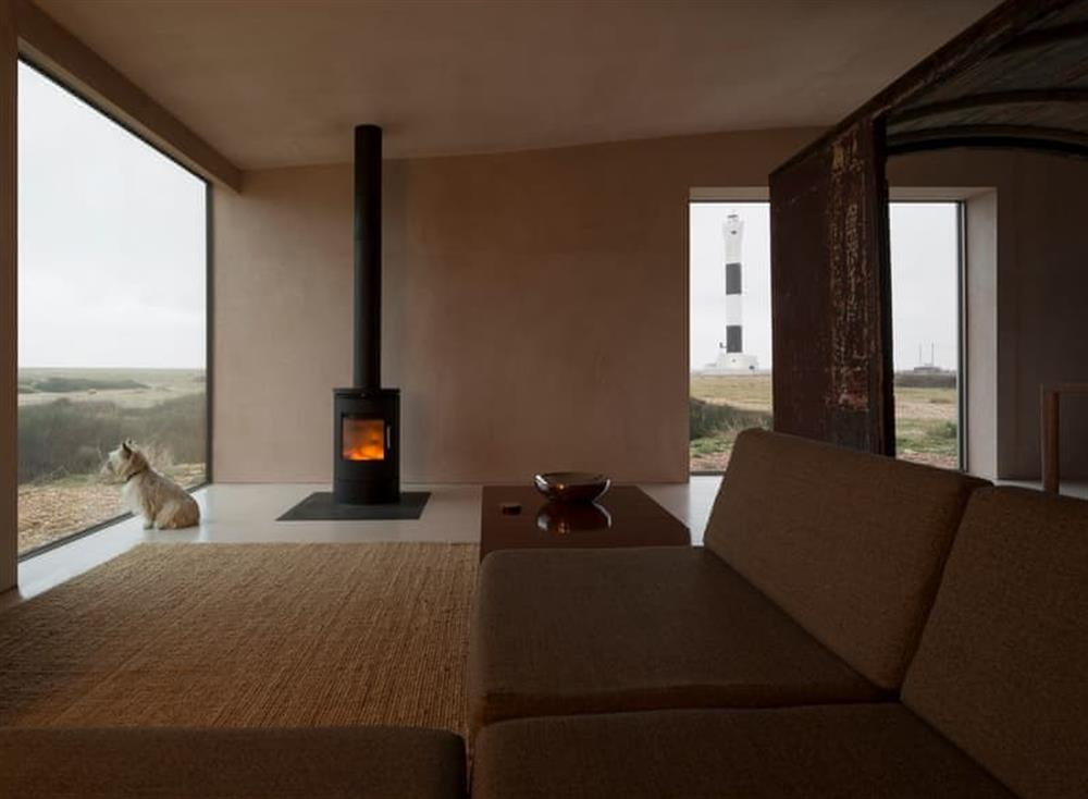 Open plan living space at Channel View in Dungeness, Kent