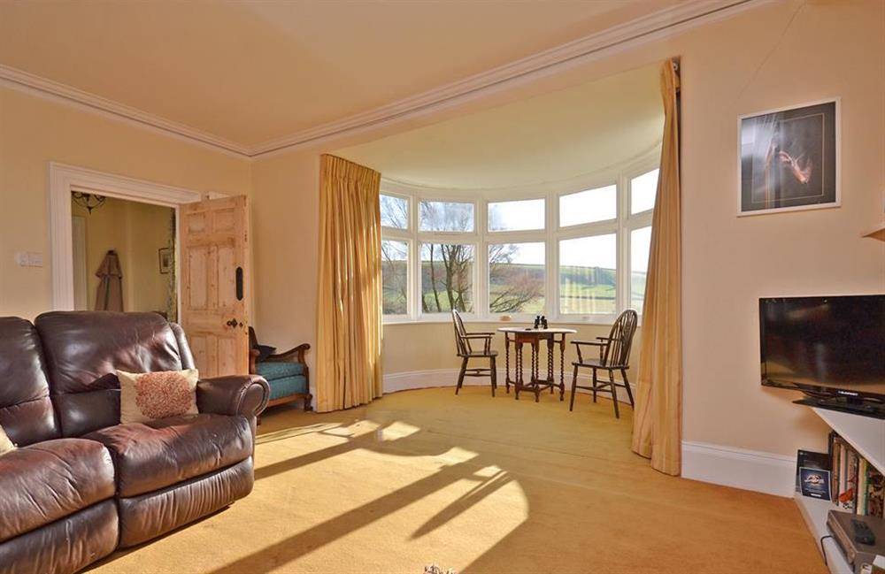 Another view of the spacious sitting room at Charford Manor, Diptford