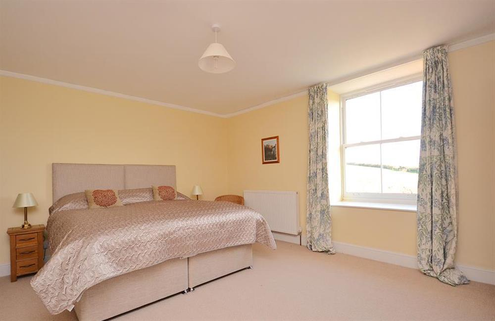 Bedroom 2 which can either offer a super king bed or can be split into two singles at Charford Manor, Diptford