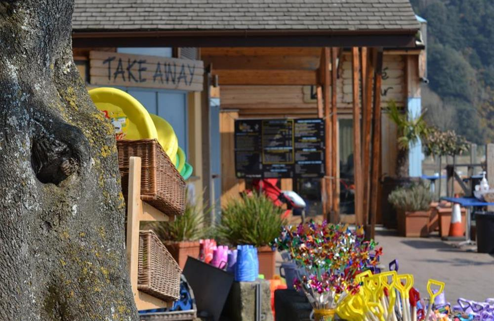 The beachside shop at family friendly Blackpool Sands at Charford Manor, Diptford