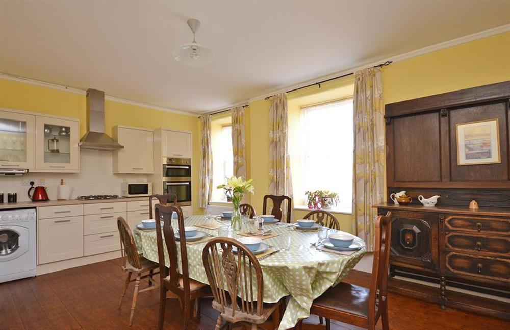 The dining kitchen at Charford Manor, Diptford
