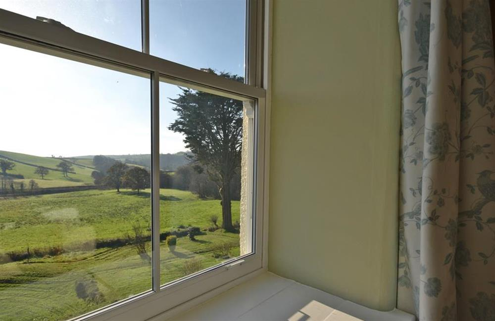 Typical views from the three front facing bedrooms at Charford Manor, Diptford