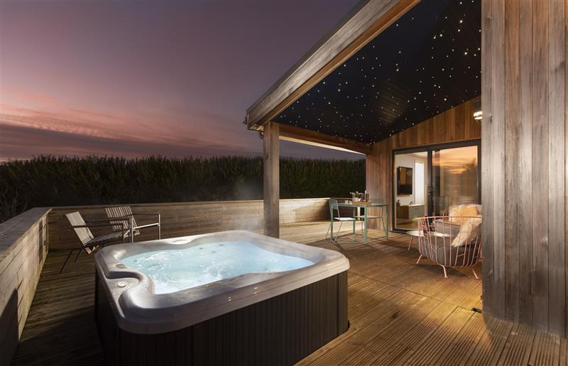 Enjoy the hot tub at