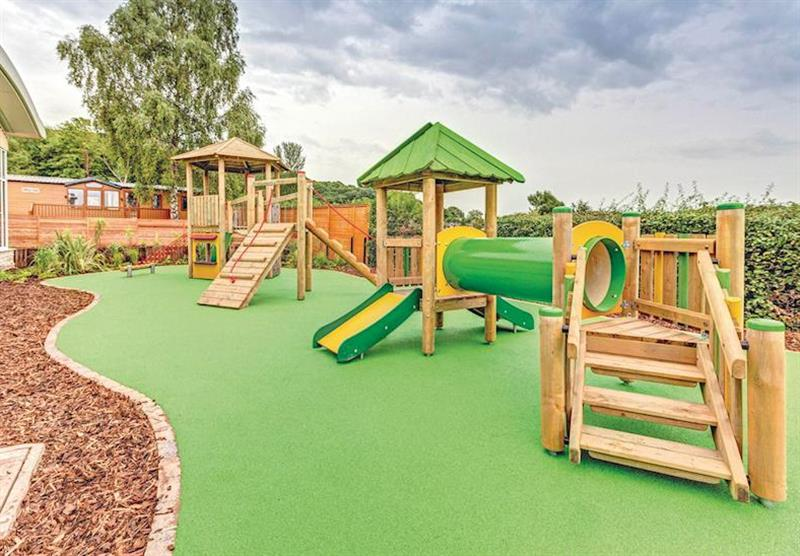 Children's play area at Cheddar Woods in , Somerset