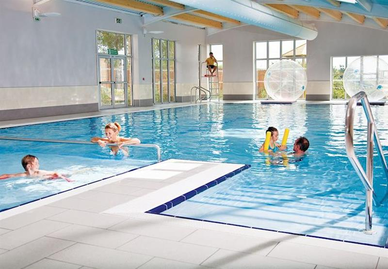 Indoor heated swimming pool at Cheddar Woods in , Somerset