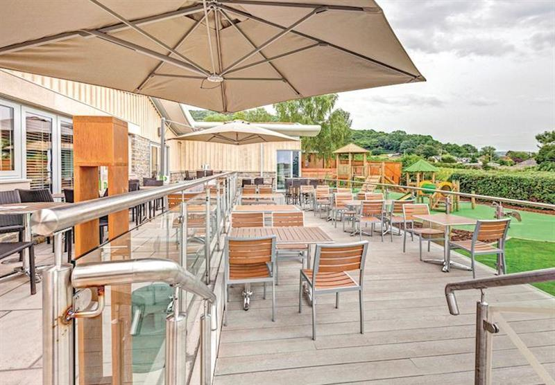 Sun terrace at Cheddar Woods in , Somerset
