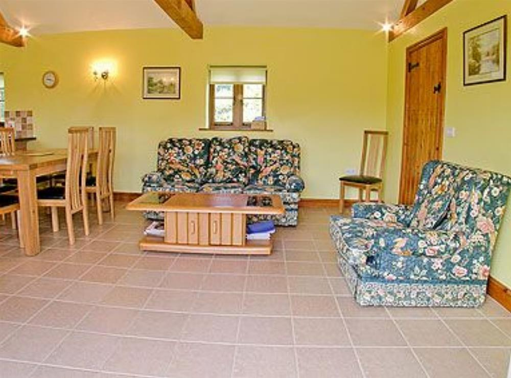 Open plan living/dining room/kitchen at Barn Owl Cottage,