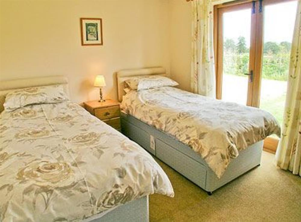 Twin bedroom at Barn Owl Cottage,