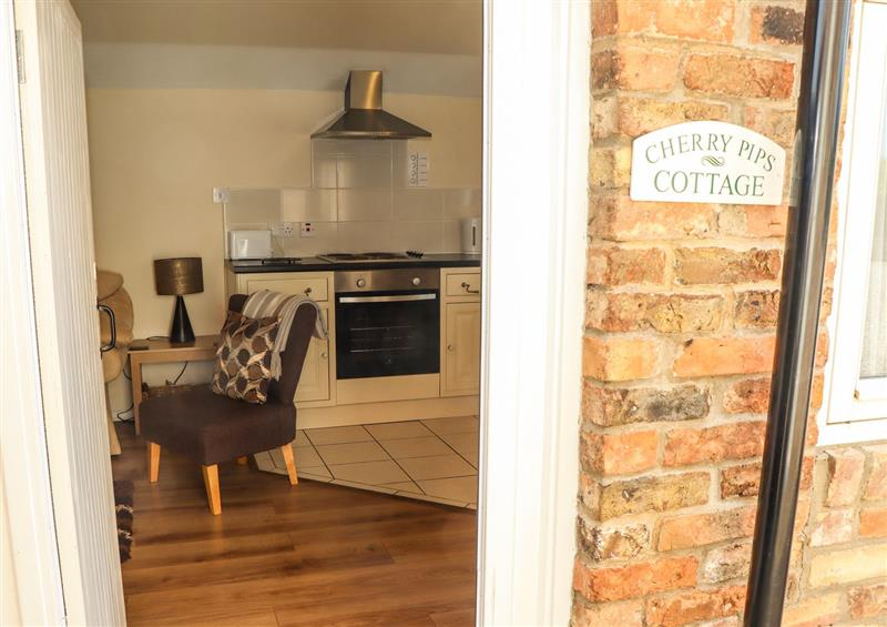 The living area at Cherry Pips, Saltfleetby