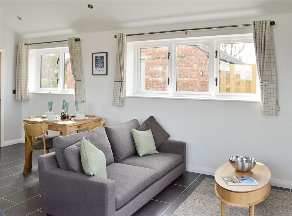 Open plan living/dining room/kitchen at Cherry Tree Barn in Audlem, near Nantwich, Cheshire