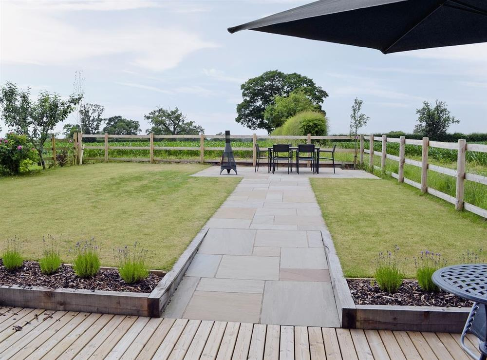 View at Cherry Tree Barn in Audlem, near Nantwich, Cheshire