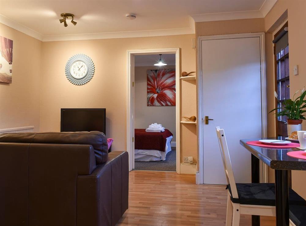 Cosy open plan living area at Cherry Tree Hideaway in Walton, near Street, Somerset
