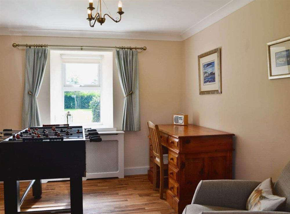 Games room at Chestnut Cottage in Prestwick, Ayrshire