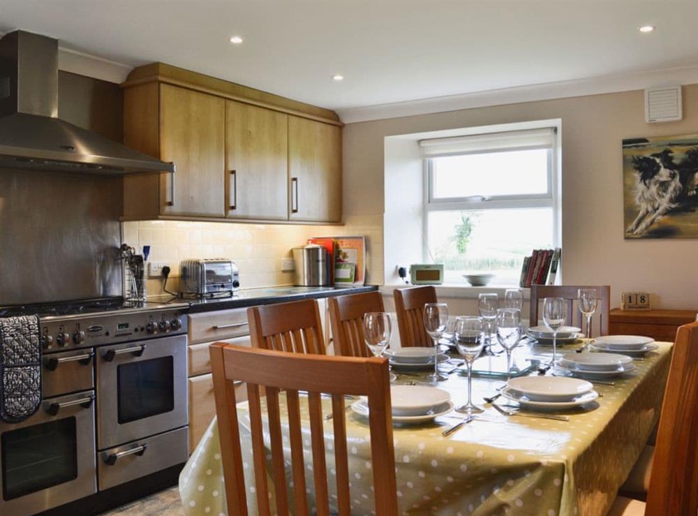 Kitchen/diner at Chestnut Cottage in Prestwick, Ayrshire