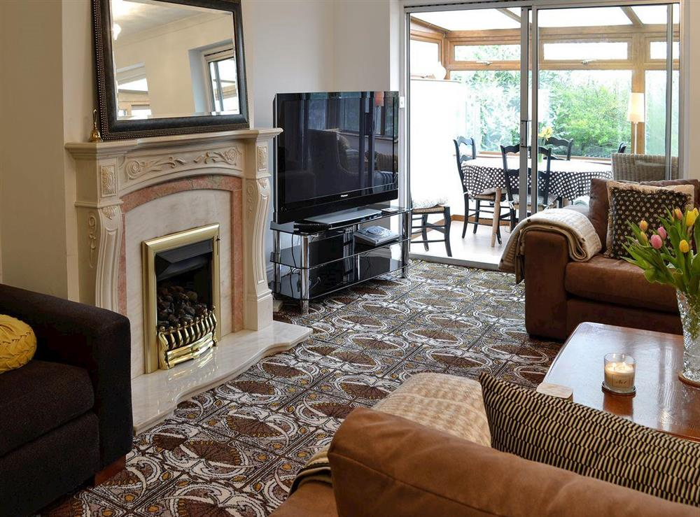Comfortable living room at Chez Nous in Brixham, Devon, England