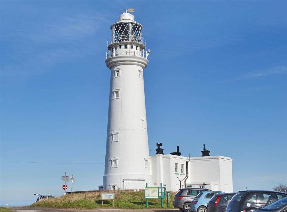 Flamborough lighthouse at Christine Cottage in Flamborough, North Humberside