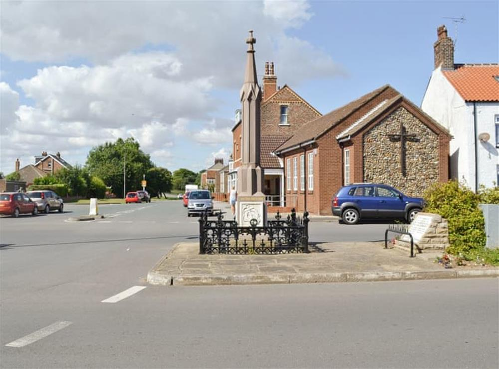 Flamborough spire at Christine Cottage in Flamborough, North Humberside