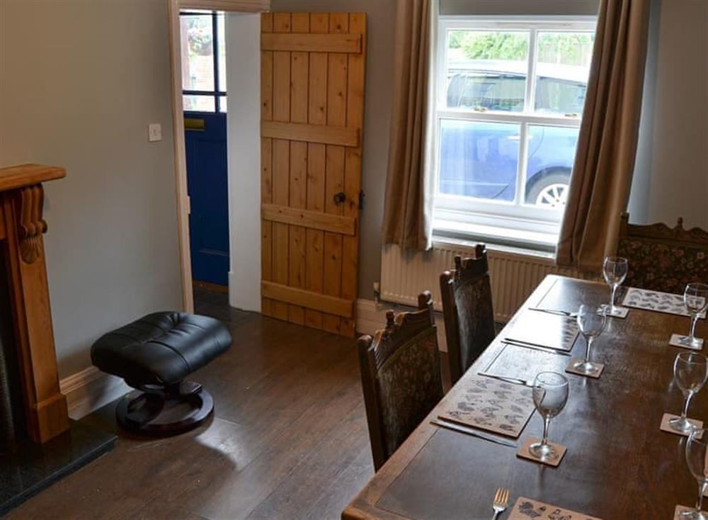 Dining room at Church Farm House in Sea Palling, near Stalham, Norfolk