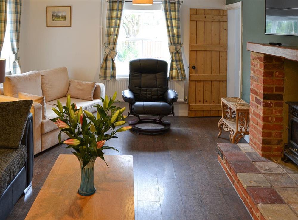 Living room at Church Farm House in Sea Palling, near Stalham, Norfolk