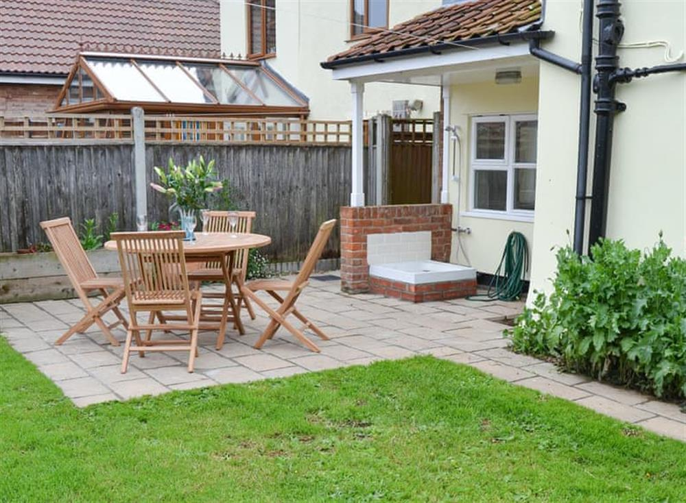 Sitting out area at Church Farm House in Sea Palling, near Stalham, Norfolk