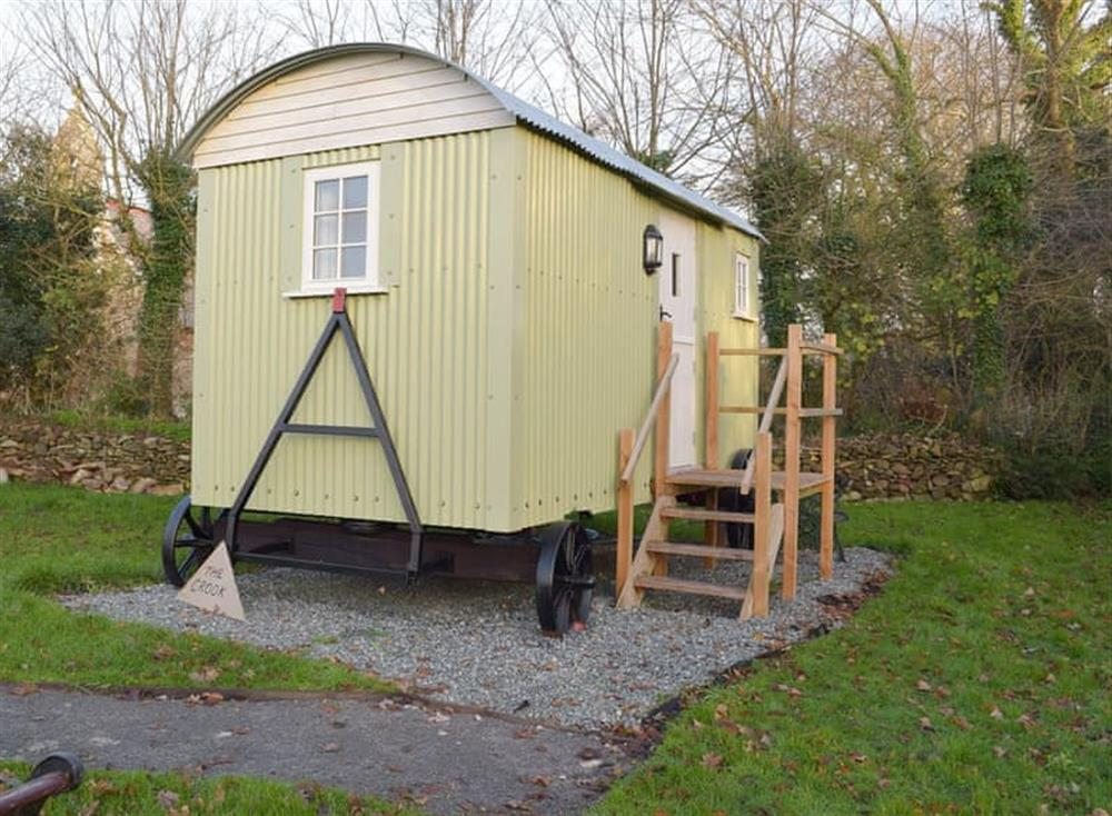 Quirky shepherd's hut at The Crook,