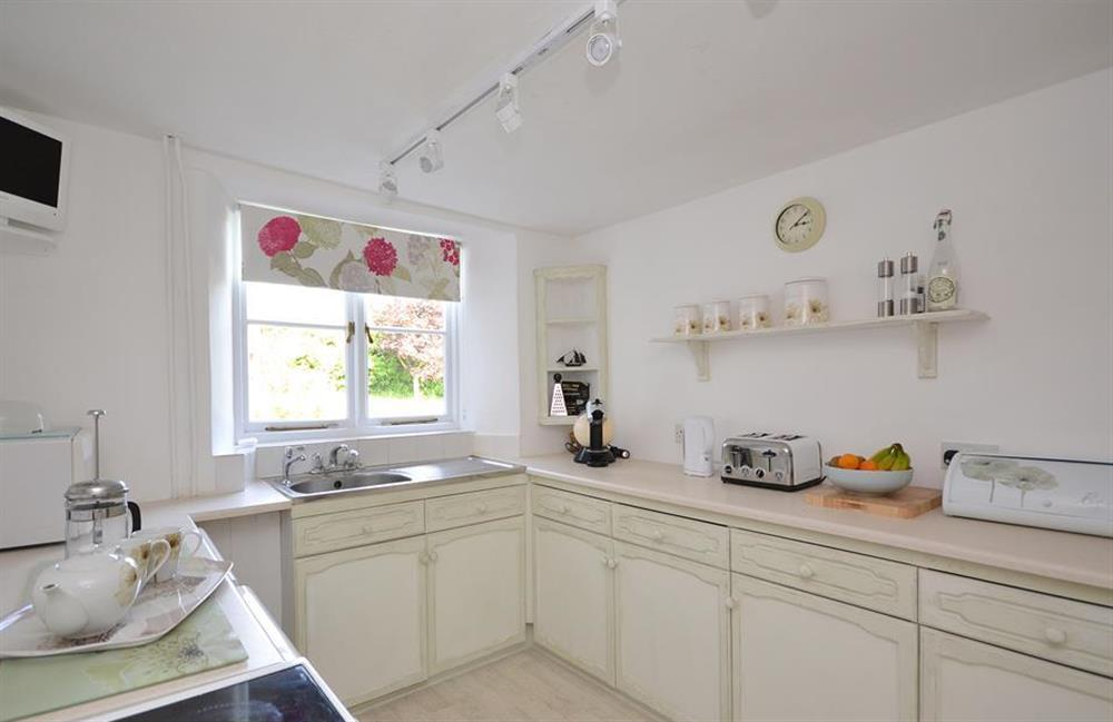 The well equipped kitchen at Churchgate House, Blackawton