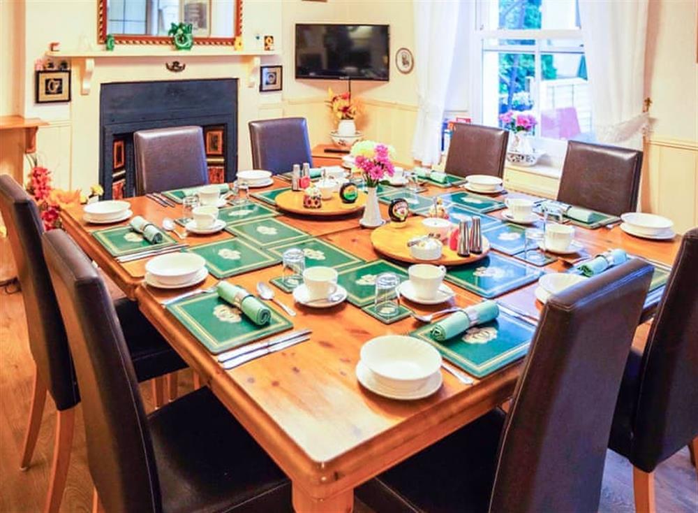 Kitchen/diner at Cladda House in Dartmouth, Devon