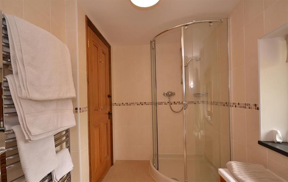Another view of the shower room at Clarence Cottage, Stoke Fleming