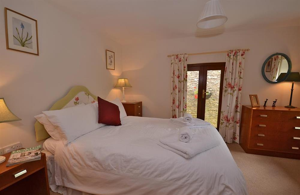 The comfortable double bedroom at Clarence Cottage, Stoke Fleming