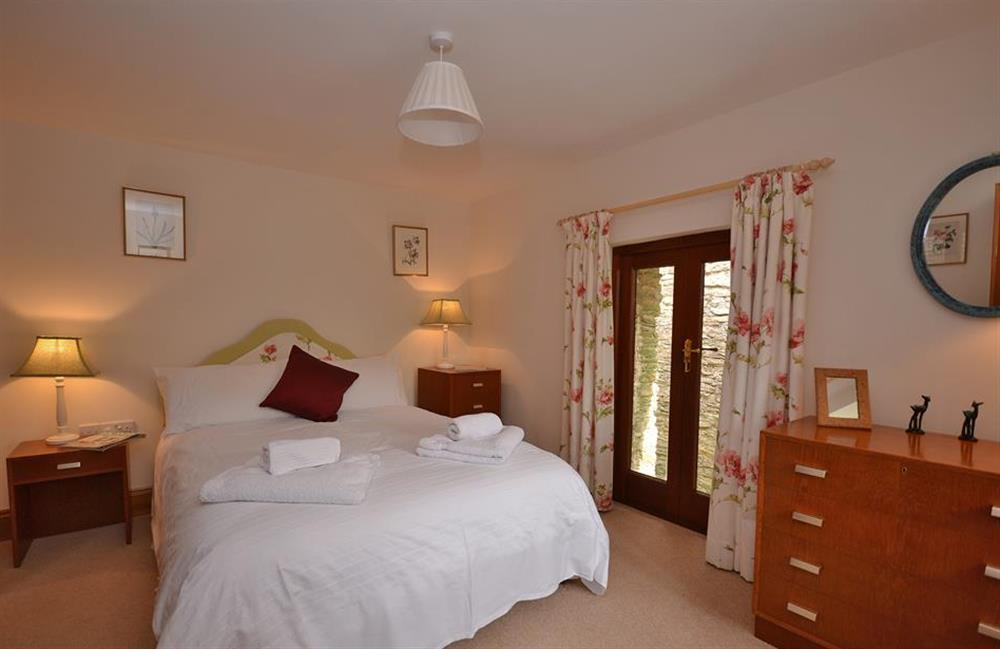 The double bedroom at Clarence Cottage, Stoke Fleming