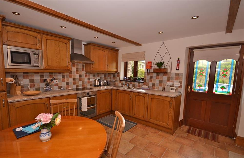 The kitchen diner at Clarence Cottage, Stoke Fleming