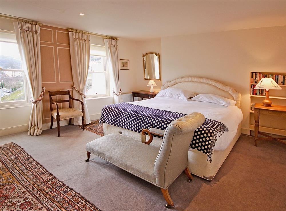 Bedroom 4 Super King/Zip Lock at Clarence Street 36 in Dartmouth, Devon